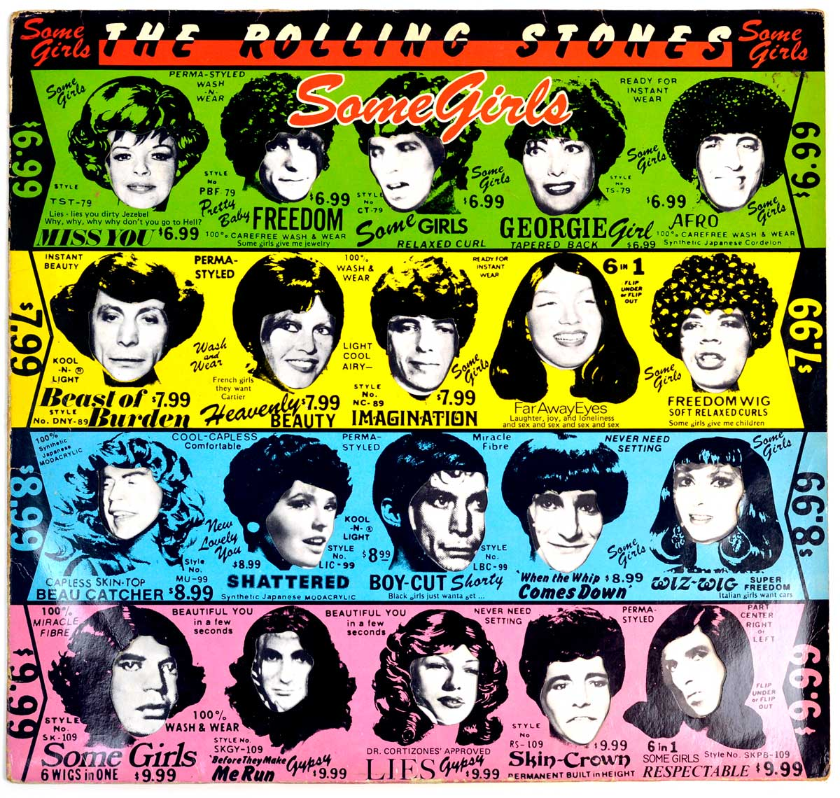 "Album Front Cover  Photo of ""ROLLING STONES - Some Girls (Sweden)"""