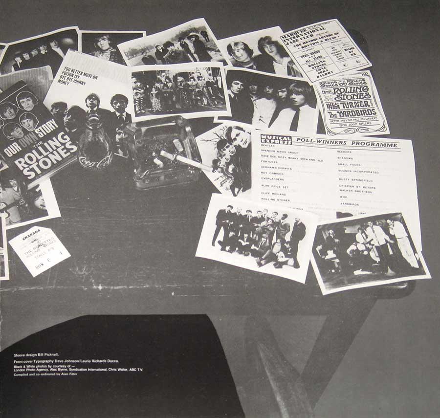 Photo One Of The Original Custom Inner Sleeve ROLLING STONES Rolled Gold, Very Best of Rolling Stones, 2LP