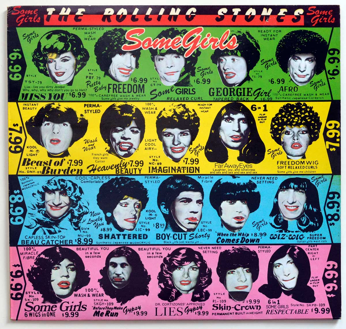 High Resolution Photo The Rolling Stones - Some Girls ( Holland )