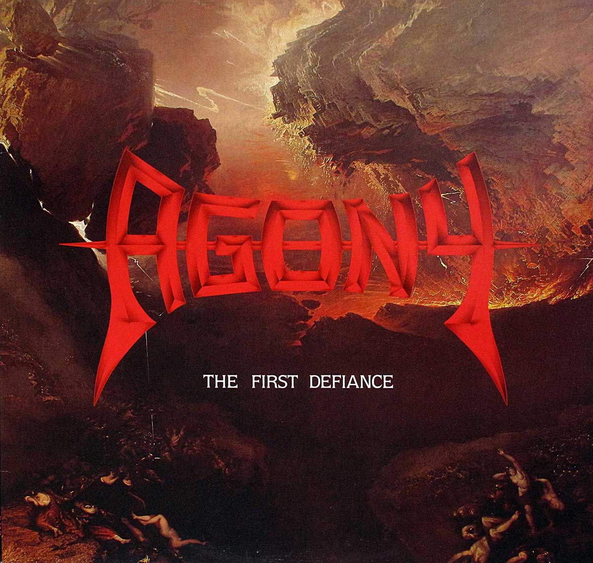 large photo of the album front cover of: Agony - The First Defiance