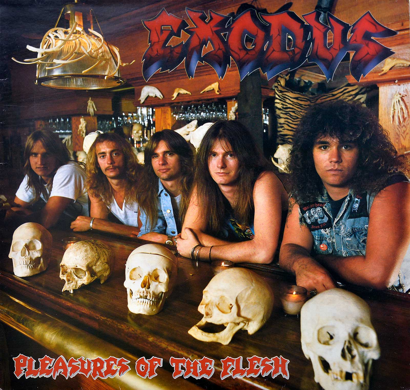 large photo of the album front cover of: Pleasures of the Flesh by Exodos
