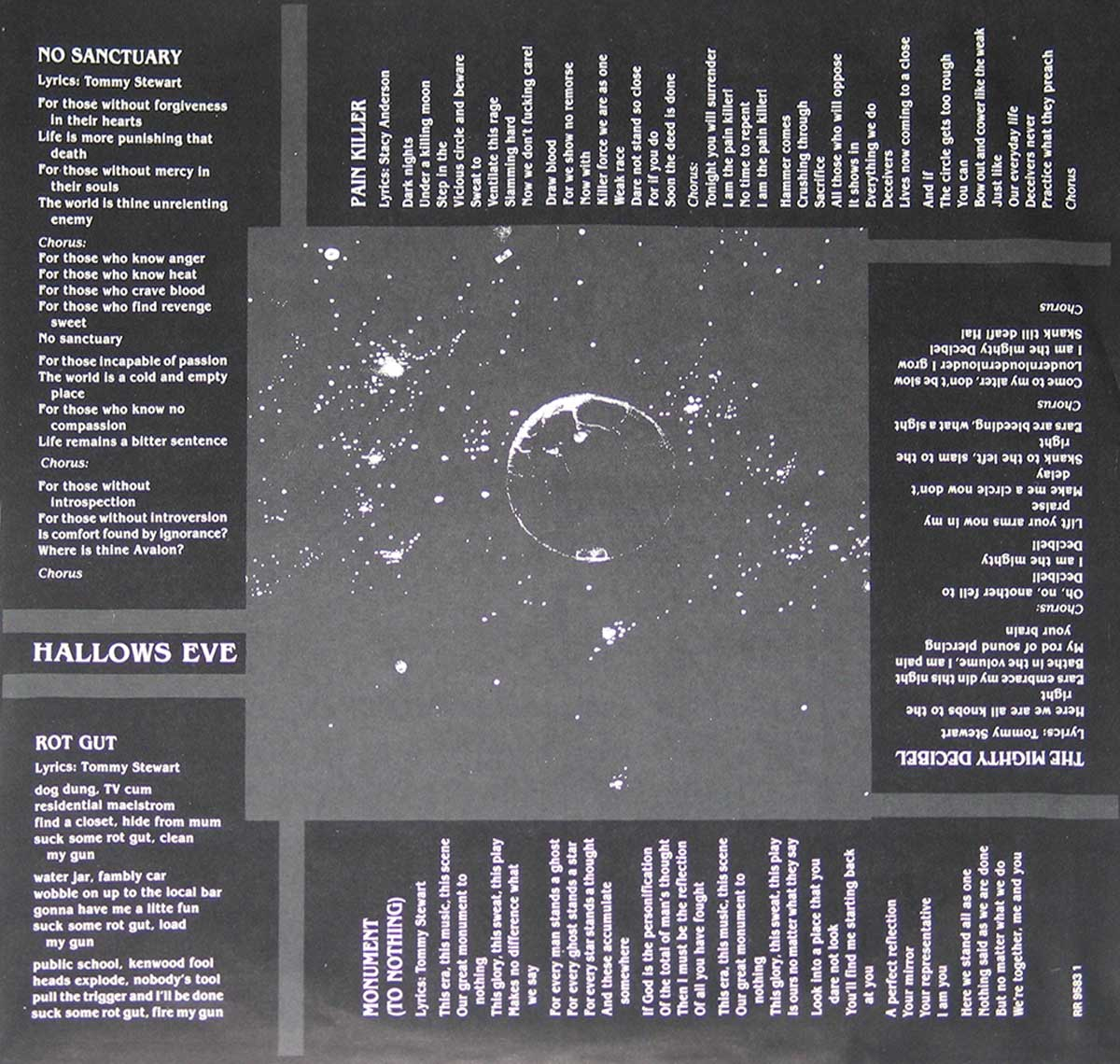 High Resolution Photo of the enlarged label Hallow's Eve - Monument https://vinyl-records.nl