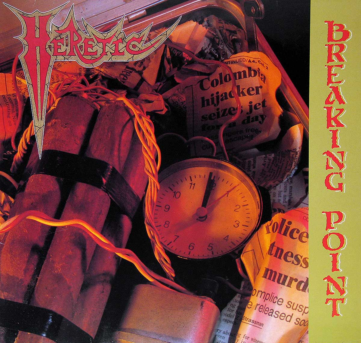 large album front cover photo of: HERETIC BREAKING POINT