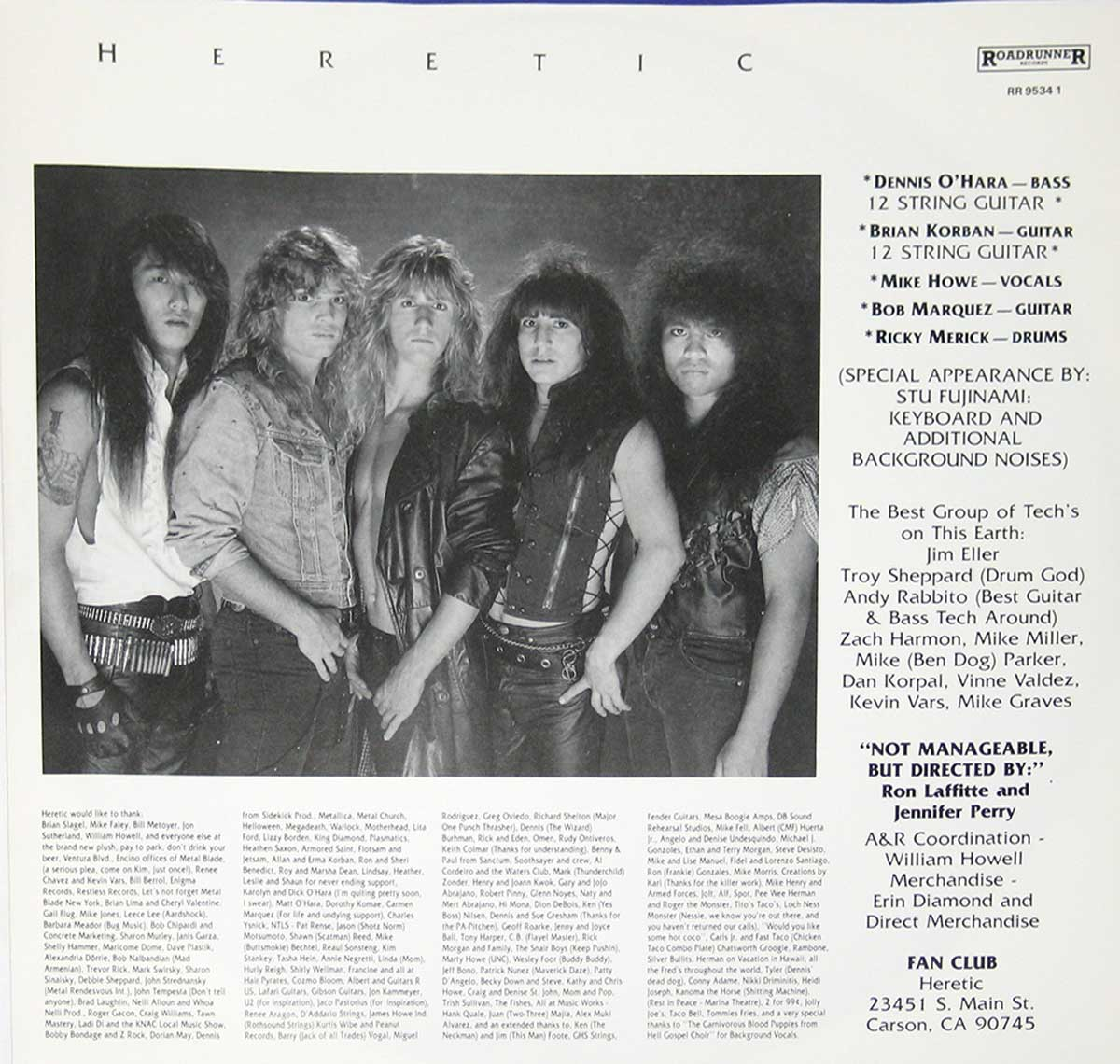 High Resolution Photo  of the  Original Custom Inner Sleeve (OIS) #1 of HERETIC Breaking Point https://vinyl-records.nl