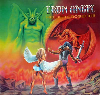 Thumbnail Of  IRON ANGEL - Hellish Crossfire ( Germany )  album front cover