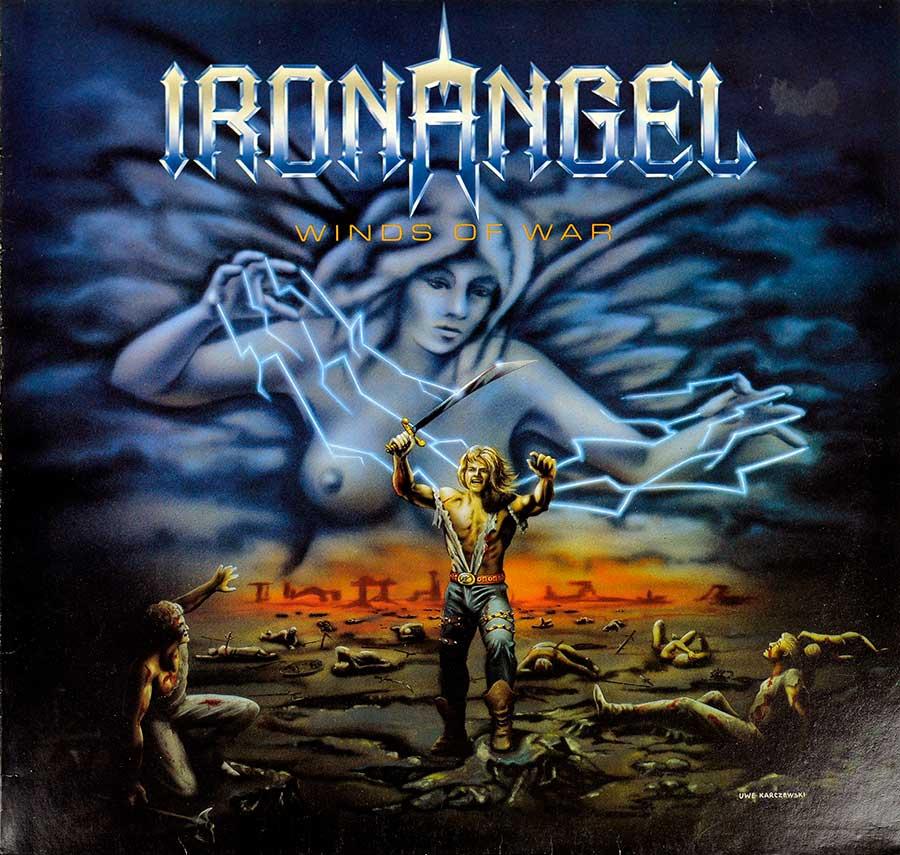 """IRON ANGEL - Winds Of War 12"""" Vinyl LP Album  front cover https://vinyl-records.nl"""
