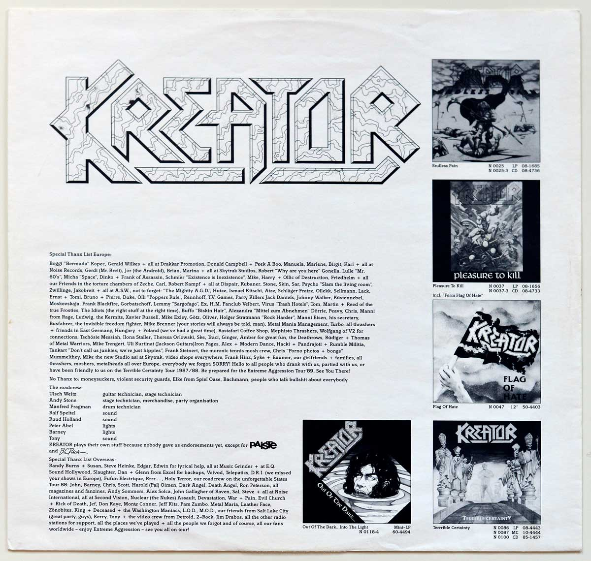 High Resolution Photo #12 KREATOR - Extreme Aggression https://vinyl-records.nl