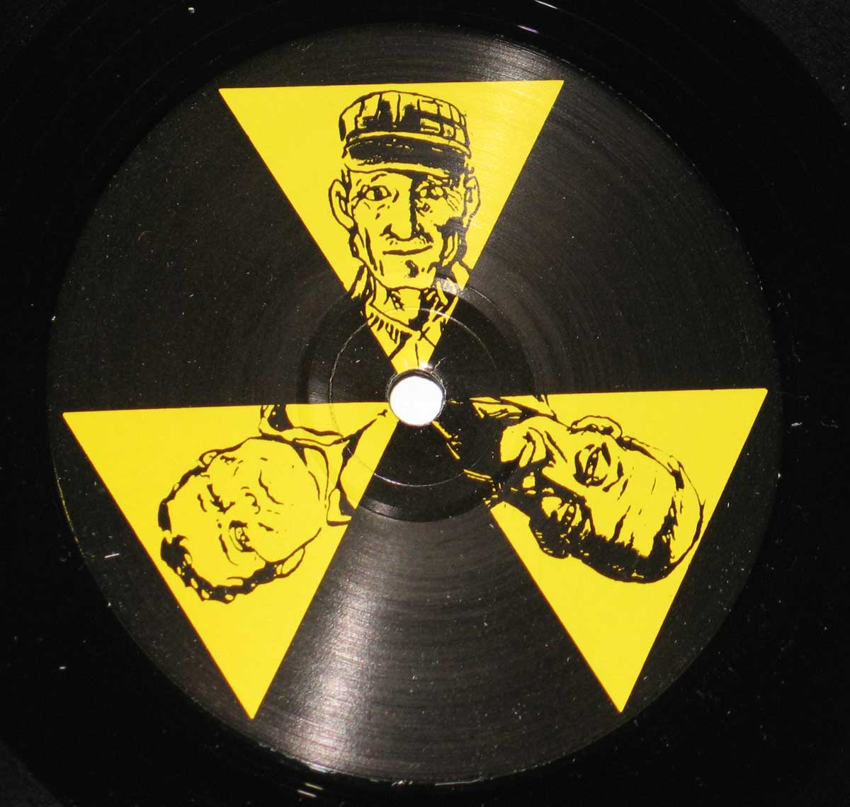 "Photo of ""Vinyl Solutions"" SOL-18 Black and Yellow Record Label"