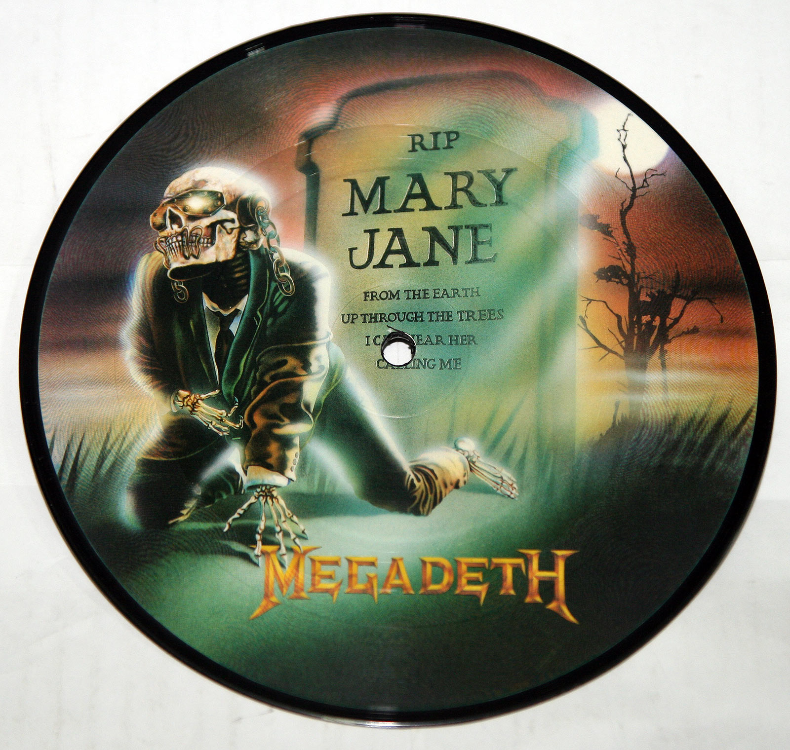 High Resolution Photo Megadeth Mary Jane / Hook In Mouth Picture Disc  Vinyl Record