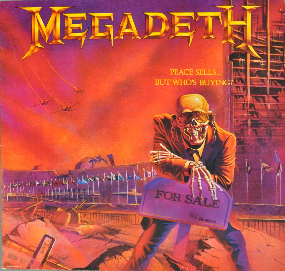 Album Front Cover of MEGADETH PEACE SELLS, BUT WHO'S BUYING?