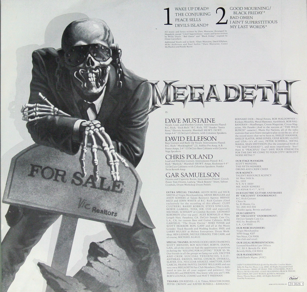 High Resolution Photo MEGADETH PEACE SELLS BUT WHO IS BUYING German Release Vinyl Record