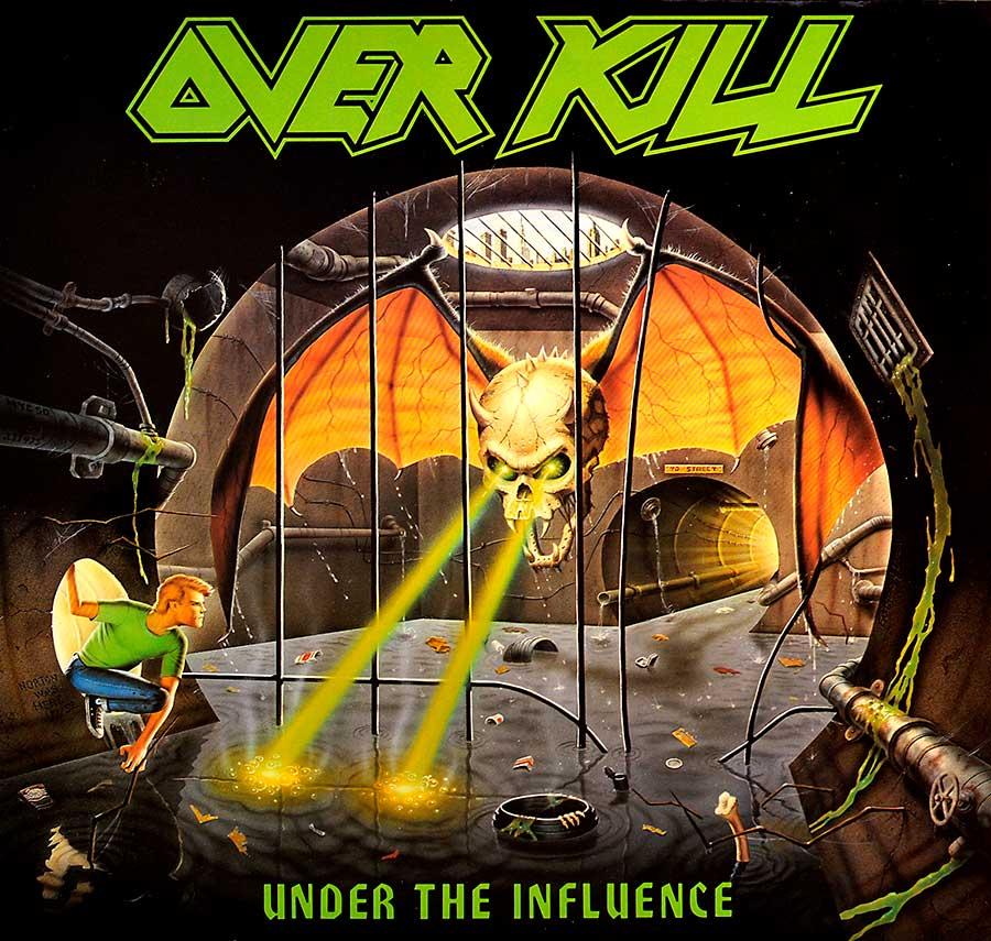 "OVERKILL - Under The Influence Megaforce Records 12"" LP Album Vinyl front cover https://vinyl-records.nl"