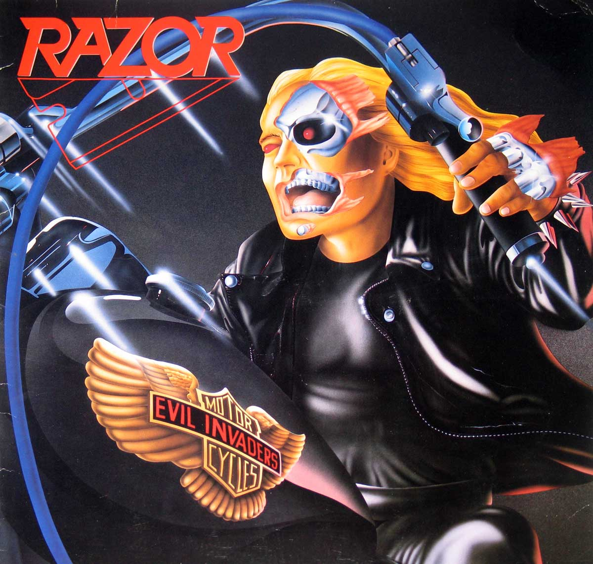 large photo of the album front cover of: Razor Evil Invaders