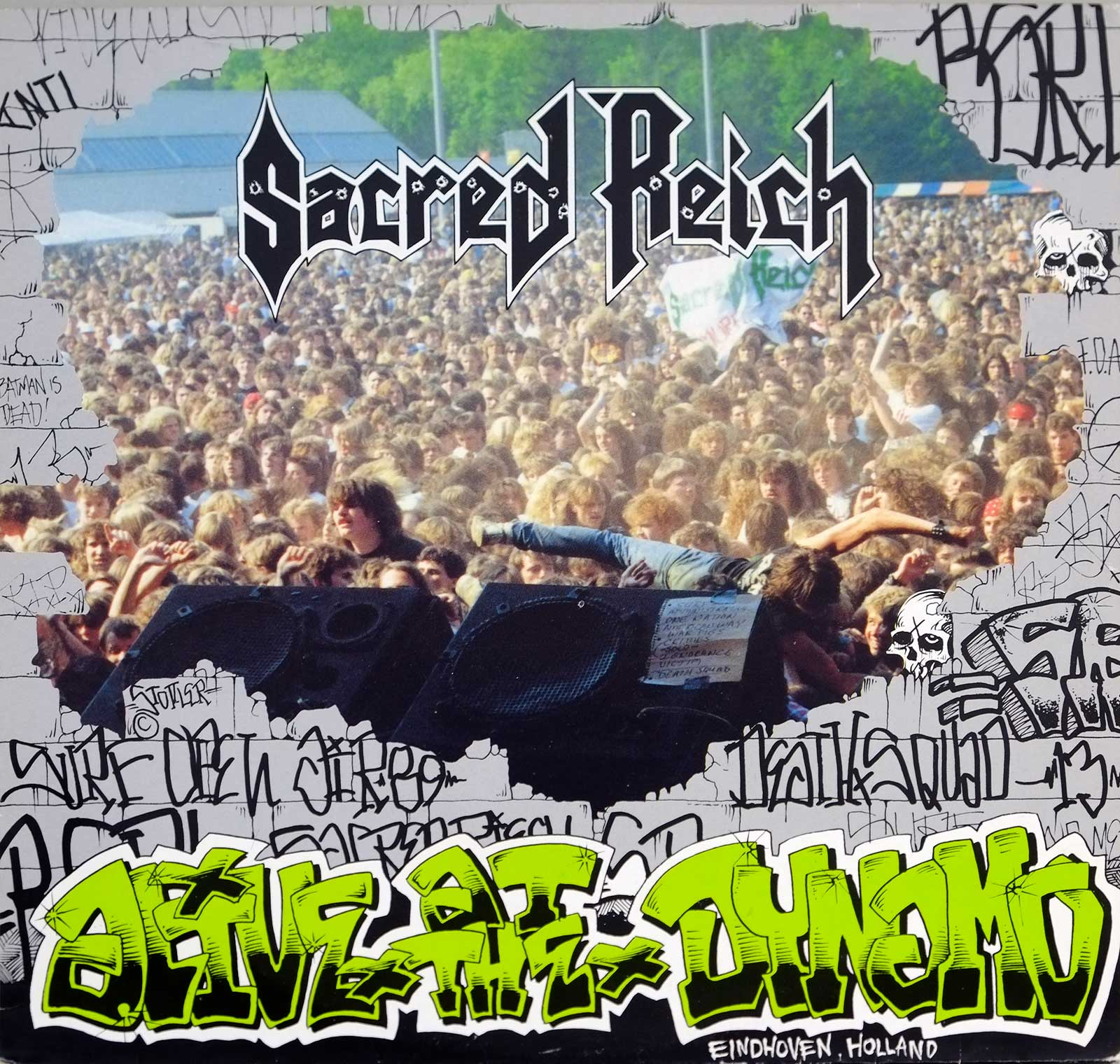 large photo of the album front cover of: SACRED REICH Alive Dynamo