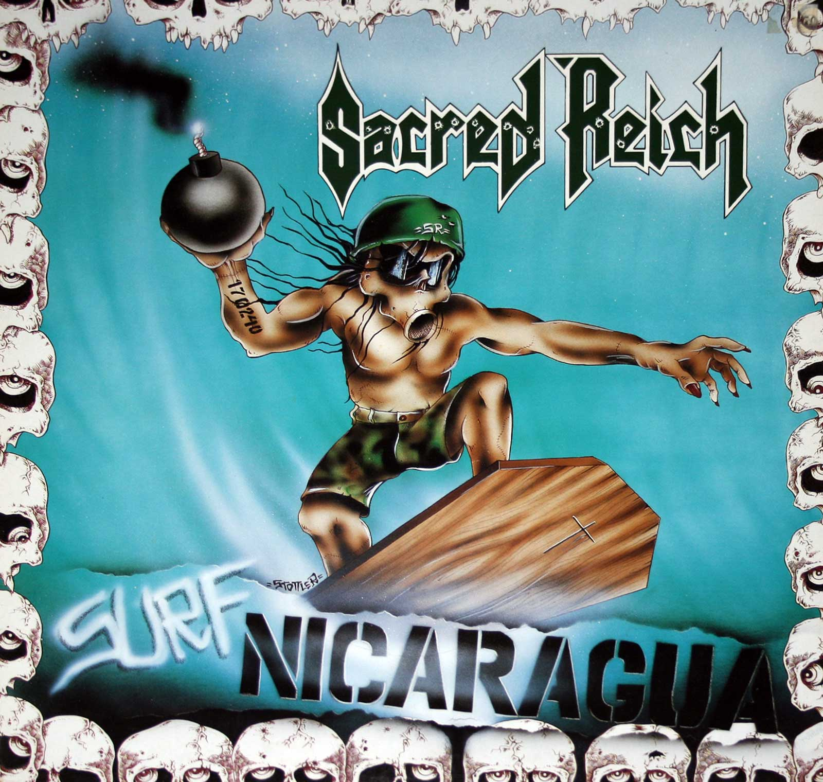 large photo of the album front cover of: Sacred Reich Surf Nicaragua