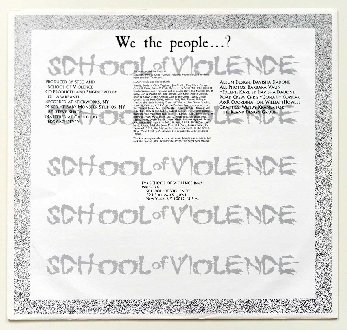 High Resolution Photo #12 SCHOOL OF VIOLENCE – We The People...? https://vinyl-records.nl