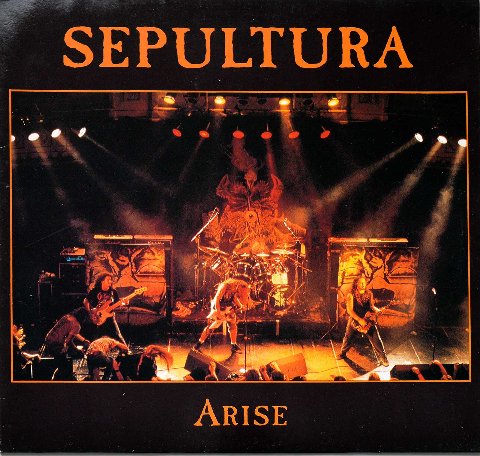 large photo of the album front cover of: Arise by Sepultura