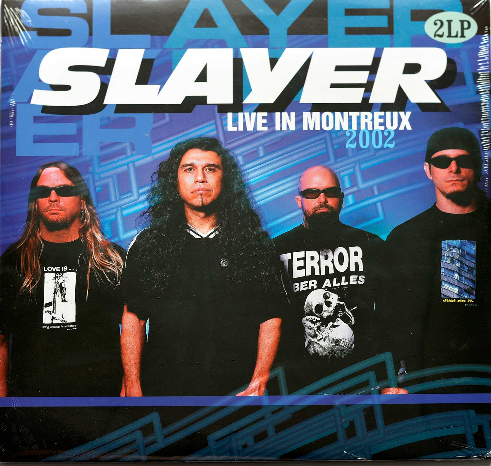 Album Front cover Photo of SLAYER Live in Montreux 2002 2LP https://vinyl-records.nl/