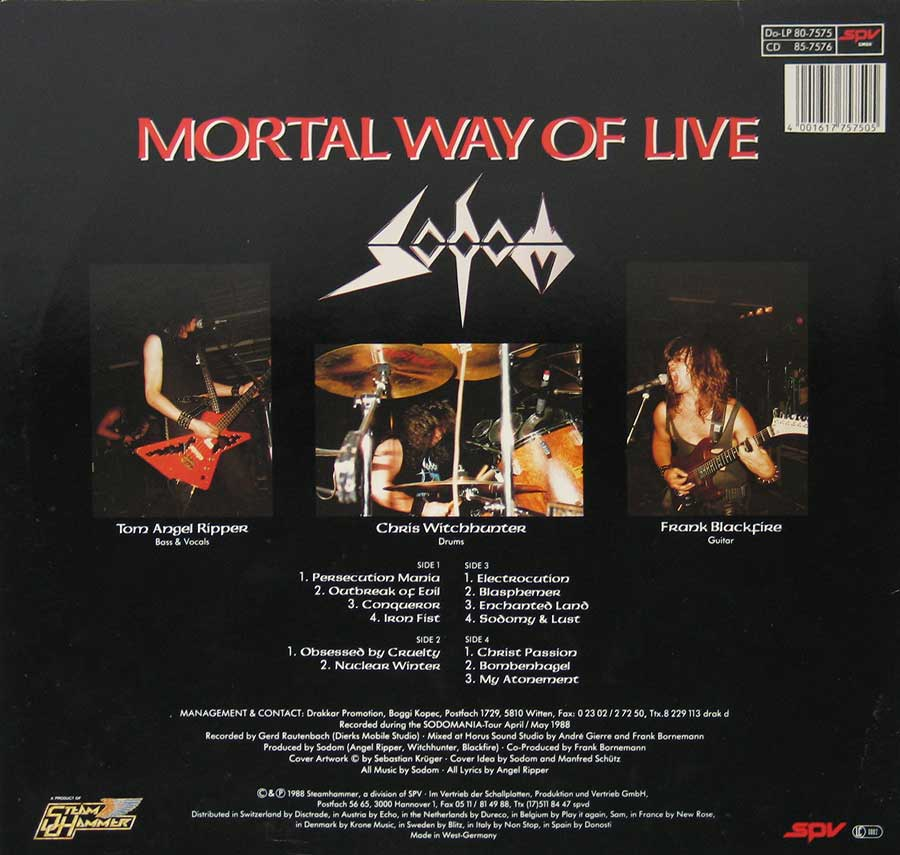 High Resolution Photos of sodom mortal way life 2lp