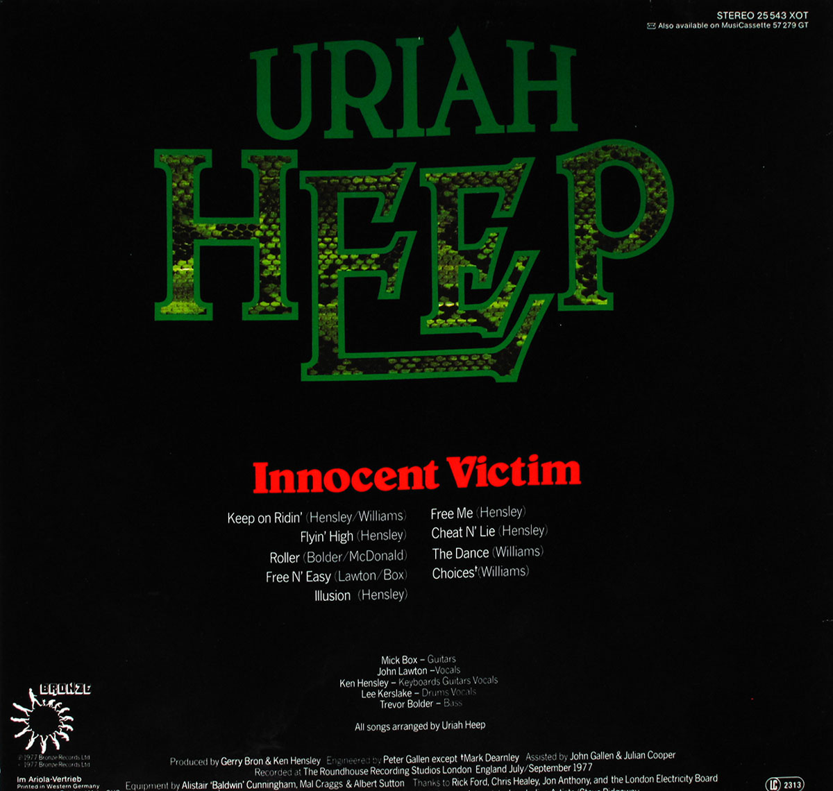 High Resolution Photos of uriah heep innocent victim germany