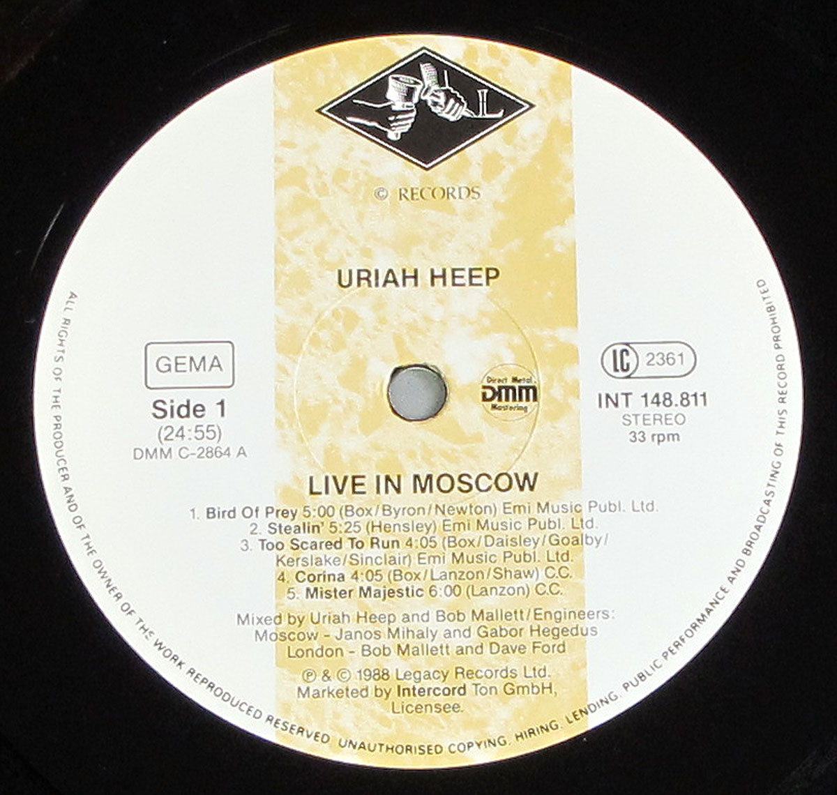 Uriah Heep Live In Moscow Cam B Mockbe Gatefold 12 Lp Vinyl Album Cover Gallery Information Vinylrecords