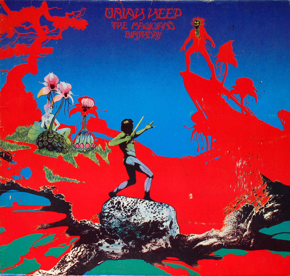 Uriah Heep T Shirt The Magicians Birthday Album Cover Logo Officiel Homme Size L