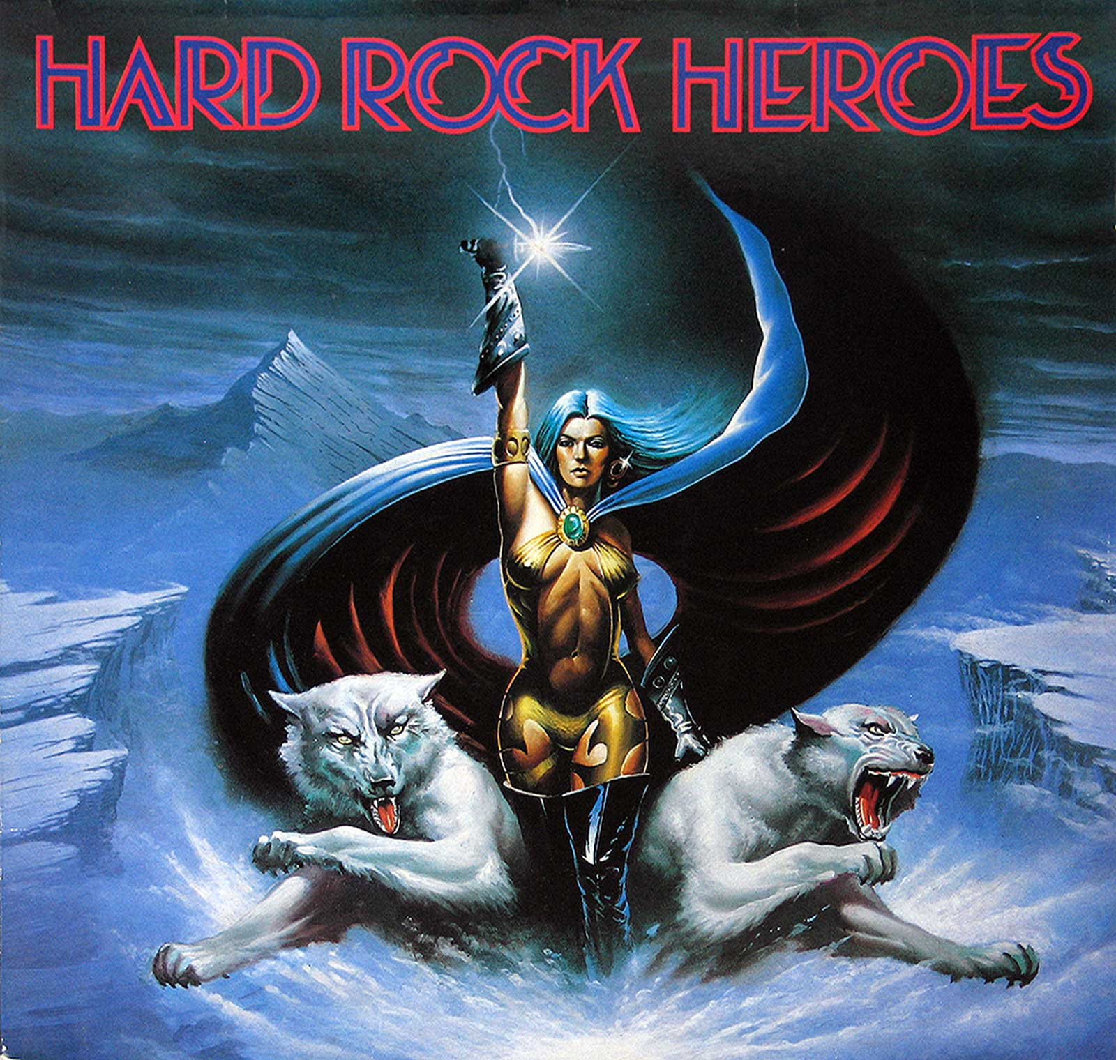 large photo of the album front cover of: Hard Rock Heroes