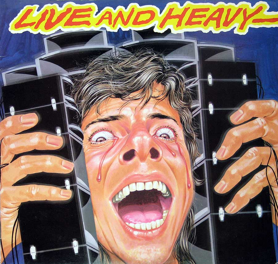 "Front Cover Photo Of VARIOUS ARTISTS - Live and Heavy 12"" Vinyl LP Album"