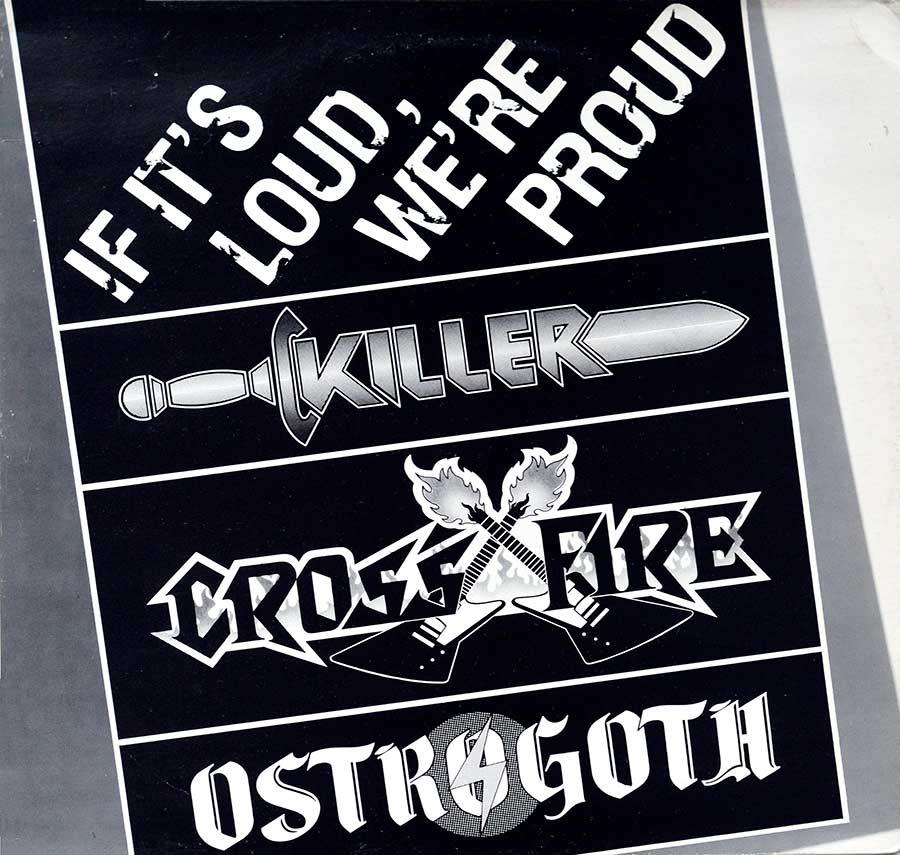 large photo of the album front cover of: Killer, Crossfire, Ostrogoth