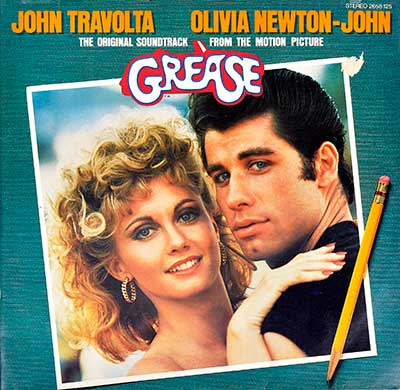 "Thumbnail Of  VARIOUS ARTISTS – Grease (The Original Soundtrack From The Motion Picture)  12"" Vinyl LP album front cover"