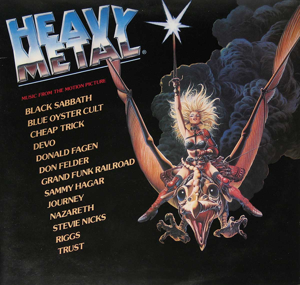 large photo of the album front cover of: HEAVY METAL MUSIC FROM THE MOTION PICTURE