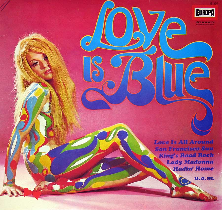 Album Front Cover Various Artists - Love is Blue Beat Psychedelic Sexy Nudity
