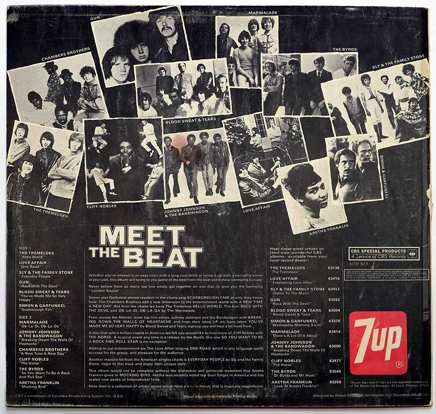 Album Back Cover Photo Various Artists Meet The Beat 7Up Vinyl Record Store https://vinyl-records.nl//