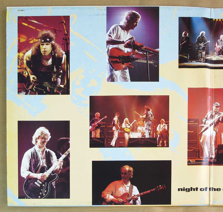 Photo of the left page inside cover NIGHT OF THE GUITAR 2LP