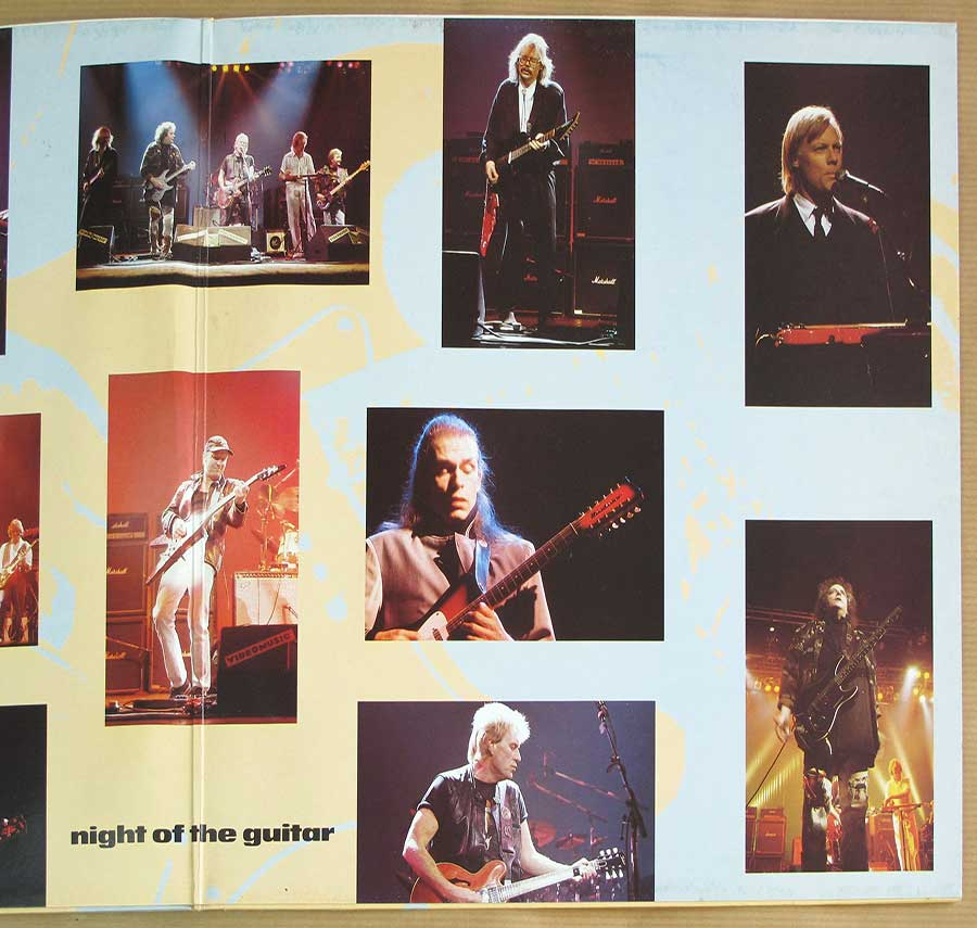 Photo of the right page inside cover NIGHT OF THE GUITAR 2LP