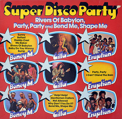 Thumbnail Of  VARIOUS ARTISTS - Super Disco Party with Gilla, Boney M. and Eruption album front cover