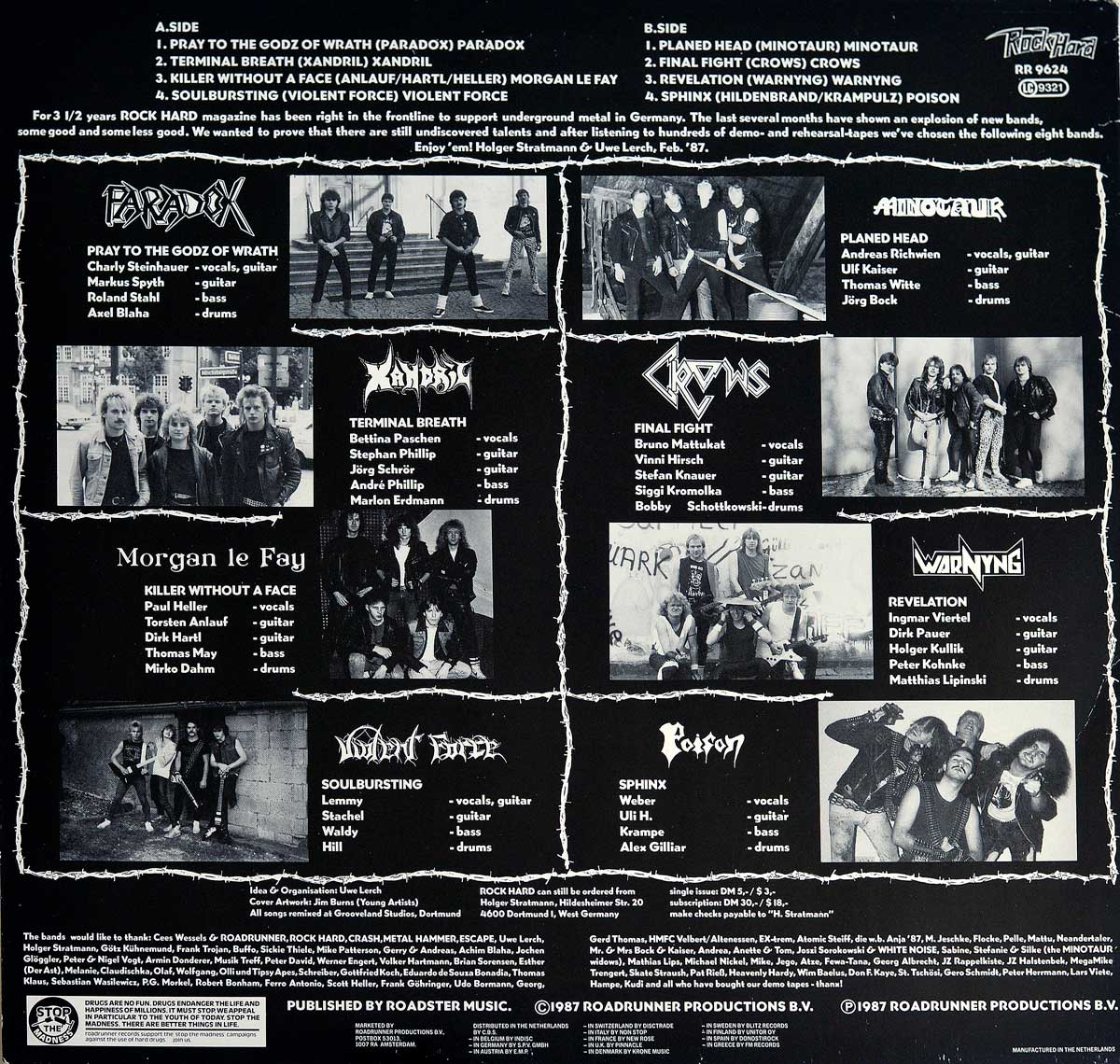 High Resolution Photo Album Back Cover of Various Artists - Teutonic Invasion https://vinyl-records.nl